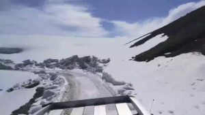 Crossing Deosai in Snow Season